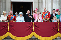 Prince Edward, Camilla, Duchess of Cornwall, Prince Andrew, Prince Charles, Queen, Prince Phillip, Catherine Duchess of Cambridge, Princess Charlotte, Prince George and Prince William<br /> on the balcony of Buckingham Palace during Trooping the Colour on The Mall, London. <br /> <br /> <br /> ©Ash Knotek  D3283  17/06/2017