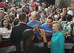 Democratic presidential nominee Hillary Clinton takes a photo with supporter Nate Helton during a campaign stop at Truckee Meadows Community College in Reno, Nev., on Thursday, Aug. 25, 2016. Cathleen Allison/Las Vegas Review-Journal