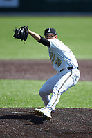 Vanderbilt Commodores starting pitcher Jack Leiter (22) in action against the South Carolina Gamecocks at Hawkins Field on March 20, 2021 in Nashville, Tennessee. Leiter pitched a no-hitter, striking out 16 batters in the 5-0 victory. (Brian Westerholt/Four Seam Images)
