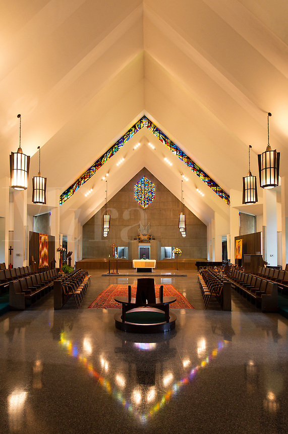 Catholic church interior, Daylesford Abbey, Paoli, Pennsylvania, USA