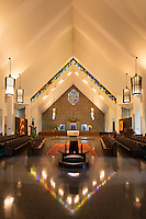 Catholic church interior, Daylesford Abbey, Paoli, Pennsylvania, USA