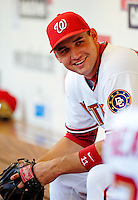 13 June 2006: Ryan Zimmerman, third baseman for the Washington Nationals, awaits the call to take the field moments prior to a game against the Colorado Rockies at RFK Stadium, in Washington, DC. The Rockies defeated the Nationals 9-2 in the second game of the four-game series...Mandatory Photo Credit: Ed Wolfstein Photo..