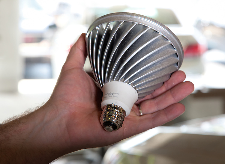 The body of the LED spotlight acts as a heat sink giving the bulb better thermal characteristics than the older technologies.  Granite Run GMC and Buick dealership. -  Energy Saving Partners, Inc - Green and Save