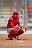 St. Louis Cardinals Ryan McCarvel (12) during a minor league Spring Training game against the Washington Nationals on March 27, 2017 at the Roger Dean Stadium Complex in Jupiter, Florida.  (Mike Janes/Four Seam Images)