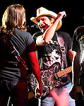 Brad Paisley performs at the Harveys Lake Tahoe Outdoor Arena in Stateline, Nev., on Friday, Aug. 30, 2013.  <br /> Photo by Cathleen Allison