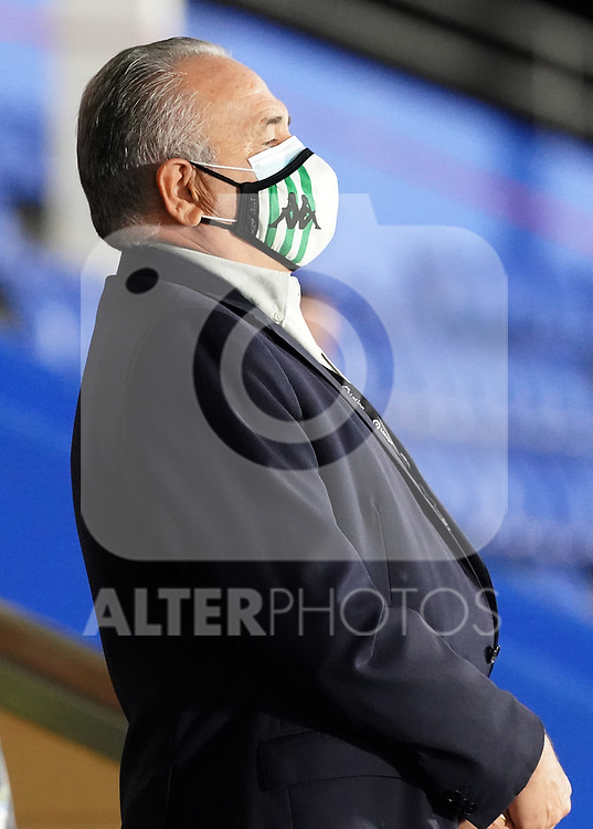 Real Betis Balompie's President Rafael Gordillo during La Liga match. September 29,2020. (ALTERPHOTOS/Acero)