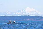 Port Townsend, Rat Island Regatta, rowers, OPRA, Olympic Peninsula Rowing Association; Wintech 2X, racing, Sound Rowers, Rat Island Rowing Club, Puget Sound, Olympic Peninsula, Washington State, water sports, rowing, kayaking, competition,