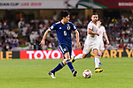 Endo Wataru of Japan (C) in action during the AFC Asian Cup UAE 2019 Semi Finals match between I.R. Iran (IRN) and Japan (JPN) at Hazza Bin Zayed Stadium  on 28 January 2019 in Al Alin, United Arab Emirates. Photo by Marcio Rodrigo Machado / Power Sport Images