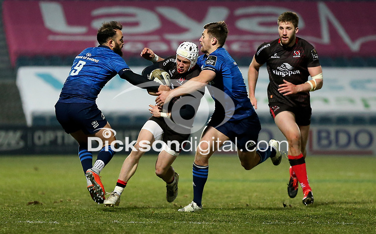 8th January 2021 | Leinster vs Ulster <br /> <br /> Alan O'Connor steals this ball from James Ryan during the PRO14 Round 11 clash between Leinster Rugby and Ulster Rugby at the RDS Arena, Ballsbridge, Dublin, Ireland. Photo by John Dickson/Dicksondigital