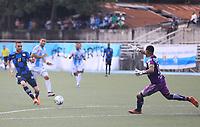SAN ANDRES – COLOMBIA, 29-10-2020: Real San Andrés y Boyacá Chicó F.C. en partido de vuelta por la tercera ronda clasificatoria de la Copa BetPlay DIMAYOR 2020 jugado en el estadio Erwin O'Neil de la ciudad de San Andrés. / Real San Andres and Boyaca Chico F.C. in second leg match for the third qualifying round as part of 2020 DIMAYOR BetPlay Cup played at Erwin O'Neil stadium in San Andres city. Photos: VizzorImage / Jesus Rubio / Cont
