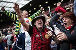© Joel Goodman - 07973 332324 . 17/05/2015 .  Old Trafford , Manchester , UK . Mcr Utd go 1 goal ahead . 1-0 . Manchester Utd vs Arsenal at Old Trafford Football Stadium , Manchester . Photo credit : Joel Goodman