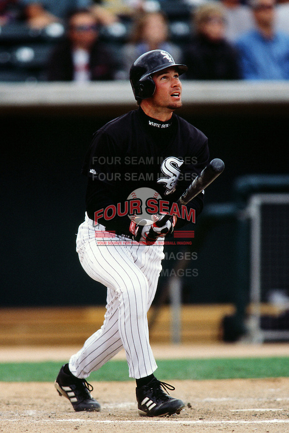 Jeff Liefer of the Chicago White Sox during a Spring Training game circa 1999 in Phoenix, Arizona. (Larry Goren/Four Seam Images)