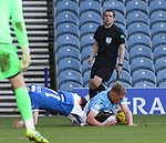 04.10.2020 Rangers v Ross County: Ryan Kent fouled on the line and a free-kick awarded