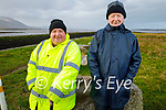 Martin O'Shea (left) and Harry Enright enjoying a stroll in Blennerville on Saturday morning.