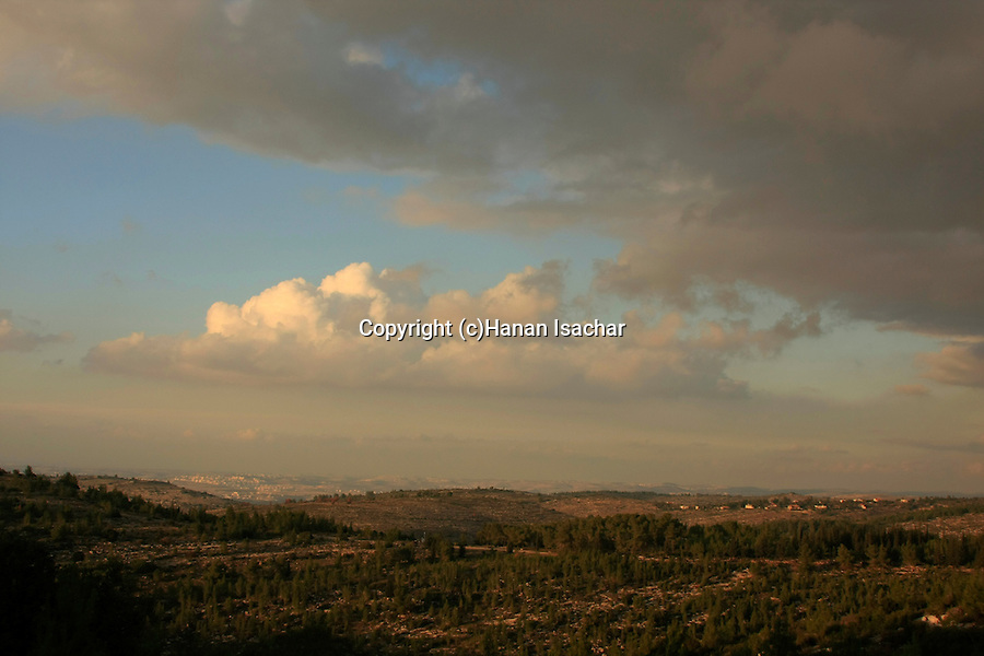 Israel, Jerusalem Mountains,  a view north from Diefenbaker road