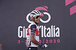 Vincenzo Nibali (ITA) Trek-Segafredo at sign on before the start of Stage 11 of the 103rd edition of the Giro d'Italia 2020 running 182km from Porto Sant'Elpidio to Rimini, Italy. 14th October 2020.  <br /> Picture: LaPresse/Gian Mattia D'Alberto | Cyclefile<br /> <br /> All photos usage must carry mandatory copyright credit (© Cyclefile | LaPresse/Gian Mattia D'Alberto)