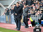 Hearts v St Johnstone…..14.12.19   Tynecastle   SPFL<br />Saints manager Tommy Wright<br />Picture by Graeme Hart.<br />Copyright Perthshire Picture Agency<br />Tel: 01738 623350  Mobile: 07990 594431