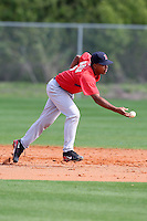 March 18, 2010:  Shortstop Jose Garcia of the Boston Red Sox organization during Spring Training at Ft.  Myers Training Complex in Fort Myers, FL.  Photo By Mike Janes/Four Seam Images