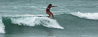 Saturday, June 14, 2008, Tourmaline Surf Park, Pacific Beach, San Diego, CA, USA.  Mele Salli competes during the womens final of the Pacific Beach Surf Club's Tenth Annual Longboard Classic at Tourmaline Surfing Park.  Salli went on to win the final and the Jnr Women's Title.  The event was well attended despite gray, June gloom clouds and fickle, windy surf conditions.