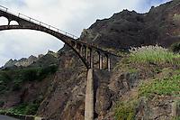 Aquaedukt im Ribeira Grande, Santo Antao, Kapverden, Afrika