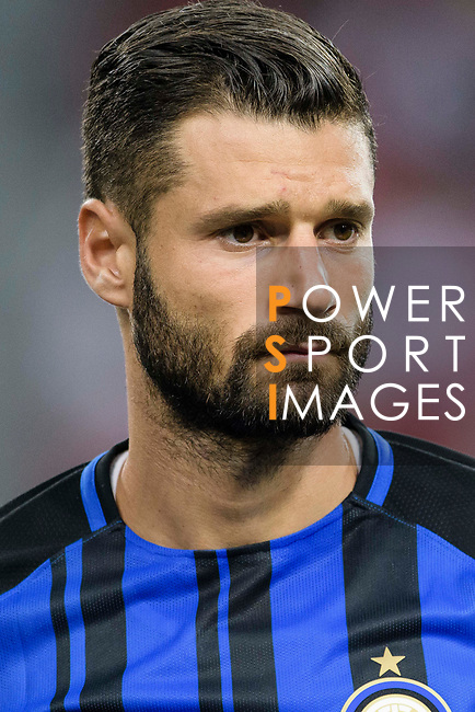 FC Internazionale Midfielder Antonio Candreva getting into the field during the International Champions Cup match between FC Bayern and FC Internazionale at National Stadium on July 27, 2017 in Singapore. Photo by Weixiang Lim / Power Sport Images
