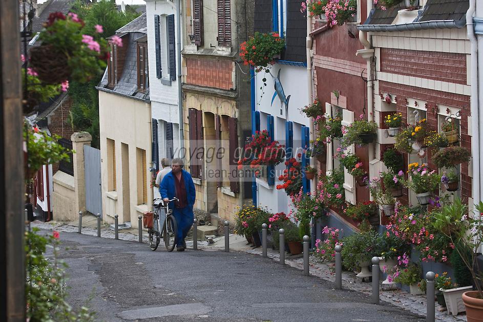 Europe/France/Picardie/80/Somme/Baie de Somme/ Saint-Valéry-sur-Somme: Dans le ruelles du village