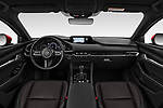 Stock photo of straight dashboard view of a 2019 Mazda Mazda3 Skycruise 5 Door Hatchback