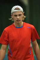 Rotterdam, The Netherlands, 15.03.2014. NOJK 14 and 18 years ,National Indoor Juniors Championships of 2014, Gijs Buntsma (NED)<br /> Photo:Tennisimages/Henk Koster