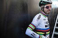World Champion Peter Sagan (SVK/Bora-Hansgrohe) waiting for the pre race team presentation<br /> <br /> 79th Gent - Wevelgem 2017 (1.UWT)