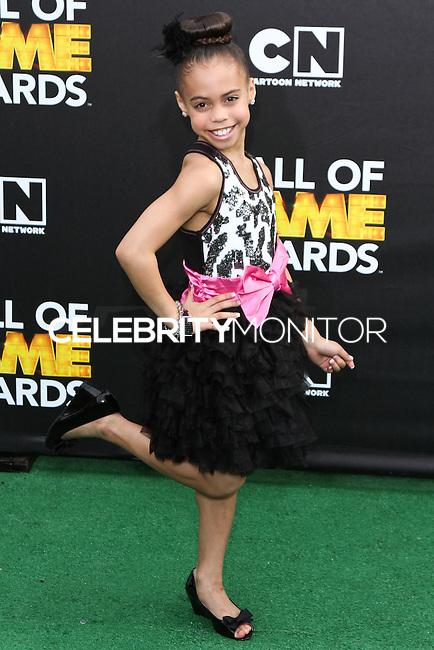SANTA MONICA, CA, USA - FEBRUARY 15: Asia Monet Ray at the 4th Annual Cartoon Network Hall Of Game Awards held at Barker Hangar on February 15, 2014 in Santa Monica, California, United States. (Photo by David Acosta/Celebrity Monitor)