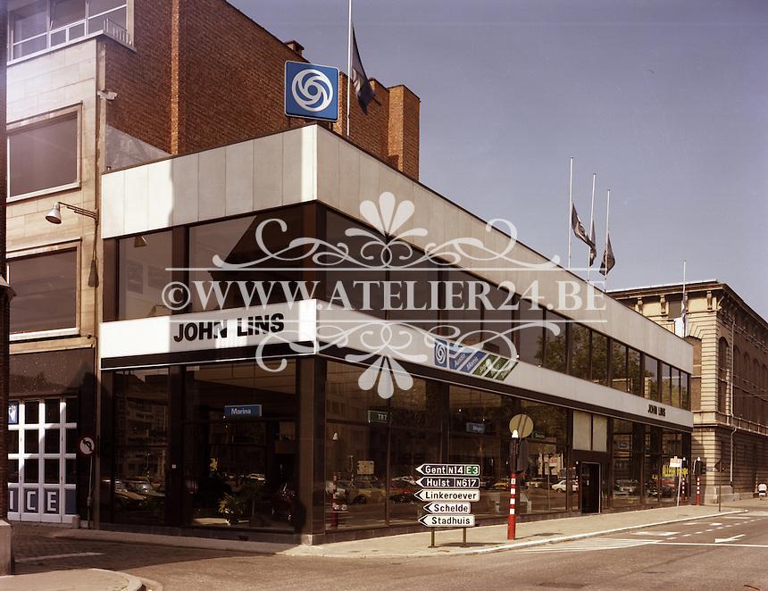 September 1979. Garage John Lins aan de Tunnelplaats in Antwerpen.