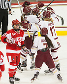 Erin Connolly (BC - 15), Kenzie Kent (BC - 12), Delaney Belinskas (BC - 17), Kristyn Capizzano (BC - 7) - The Boston College Eagles defeated the visiting Boston University Terriers 5-3 (EN) on Friday, November 4, 2016, at Kelley Rink in Conte Forum in Chestnut Hill, Massachusetts.The Boston College Eagles defeated the visiting Boston University Terriers 5-3 (EN) on Friday, November 4, 2016, at Kelley Rink in Conte Forum in Chestnut Hill, Massachusetts.