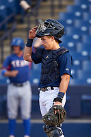 AZL Brewers Blue catcher Alex Hall (33) during an Arizona League game against the AZL Rangers on July 11, 2019 at American Family Fields of Phoenix in Phoenix, Arizona. The AZL Rangers defeated the AZL Brewers Blue 5-2. (Zachary Lucy/Four Seam Images)