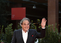 """US director Oliver Stone poses on the red carpet for the movie """"Qazaq: History of the Golden Man"""", at the 16th edition of the Rome Film Fest in Rome, on October 20, 2021.<br /> UPDATE IMAGES PRESS/Isabella Bonotto"""