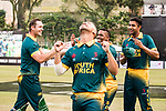 Players of South Africa celebrate after winning the Hong Kong Cricket World Sixes 2017 Cup final match between Pakistan vs South Africa  at Kowloon Cricket Club on 29 October 2017, in Hong Kong, China. Photo by Yu Chun Christopher Wong / Power Sport Images