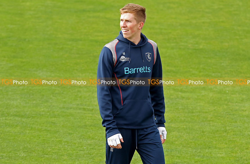 Zak Crawley of Kent leaves the practice field prior to Essex CCC vs Kent CCC, Friendly Match Cricket at The Cloudfm County Ground on 29th March 2021