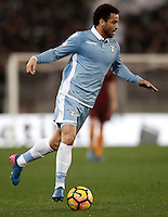Calcio, Serie A: Roma, stadio Olimpico, 1marzo 2017.<br /> Lazio's Felipe Anderson in action during the Italian TIM Cup 1st leg semifinal football match between Lazio and AS Roma at Rome's Olympic stadium, on March 1, 2017.<br /> UPDATE IMAGES PRESS/Isabella Bonotto