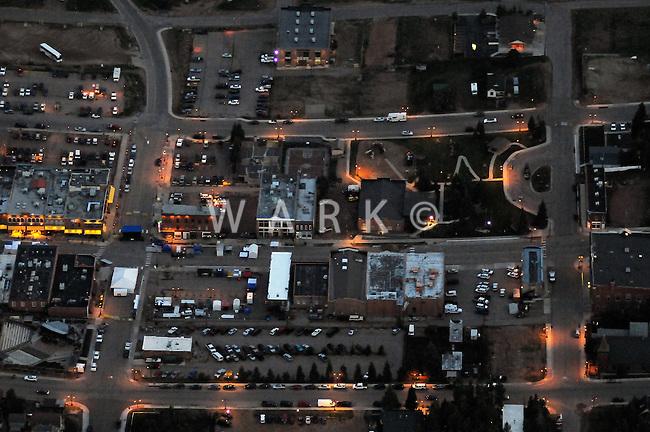 Night aerial of Cripple Creek, CO