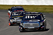 #51: Alex Tagliani, Kyle Busch Motorsports, Toyota Tundra CanTORQUE/Spectra Premium/RONA and #99: Ben Rhodes, ThorSport Racing, Ford F-150 Havoline
