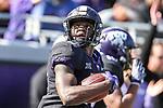 TCU Horned Frogs wide receiver Jalen Reagor (18) in action during the game between the Baylor Bears and the TCU Horned Frogs at the Amon G. Carter Stadium in Fort Worth, Texas.