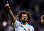 Marcelo Vieira Da Silva of Real Madrid celebrates during the La Liga 2017-18 match between Real Madrid and SD Eibar at Estadio Santiago Bernabeu on 22 October 2017 in Madrid, Spain. Photo by Diego Gonzalez / Power Sport Images