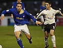 13/12/03          Copyright Pic : James Stewart.File Name : stewart013-ayr v st john.PAUL BERNARD AND DOUGIE RAMSAY CHALLENGE FOR THE BALL.....Payment should be made to :-.James Stewart Photo Agency, 19 Carronlea Drive, Falkirk. FK2 8DN      Vat Reg No. 607 6932 25.Office     : +44 (0)1324 570906     .Mobile  : +44 (0)7721 416997.Fax         :  +44 (0)1324 570906.E-mail  :  jim@jspa.co.uk.If you require further information then contact Jim Stewart on any of the numbers above.........