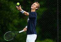 Sebastian Korda (USA) practices ahead of the 2021 Citi Open