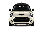 Car photography straight front view of a 2019 Mini Hardtop 4 Door Cooper S Signature 5 Door Hatchback