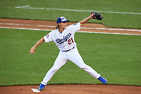 Los Angeles Dodgers pitcher Zack Greinke during the MLB All-Star Game on July 14, 2015 at Great American Ball Park in Cincinnati, Ohio.  (Mike Janes/Four Seam Images)