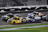 NASCAR Camping World Truck Series<br /> NextEra Energy Resources 250<br /> Daytona International Speedway, Daytona Beach, FL USA<br /> Friday 16 February 2018<br /> David Gilliland, Kyle Busch Motorsports, Pedigree Toyota Tundra, Justin Haley, GMS Racing, Fraternal Order Of Eagles Chevrolet Silverado<br /> World Copyright: John K Harrelson<br /> LAT Images