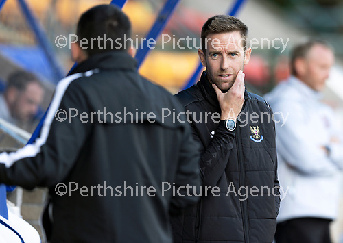 St Johnstone FC…..<br />First team coach Steven MacLean talks with manager Callum Davidson<br />Picture by Graeme Hart.<br />Copyright Perthshire Picture Agency<br />Tel: 01738 623350  Mobile: 07990 594431