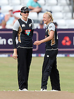 Sian Ruck of New Zealand (R) celebrates the wicket of Jenny Gunn with Nicola Browne - England Women vs New Zealand Women - First match of the NatWest summer T20 cricket series at the Ford County Ground, home of Essex CCC, Chelmsford -  29/06/10 - MANDATORY CREDIT: Gavin Ellis/TGSPHOTO - Self billing applies where appropriate - Tel: 0845 094 6026