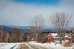 House with a view of the Green Mountains in Waterbury, VT, USA