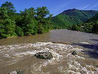 Fluss Mtkavari - Kura bei Borjomi, Samzche-Dschawacheti, Georgien, Europa<br /> River Mtkavari - Kura near Borjomi, Samzche-Dschawacheti,  Georgia, Europe